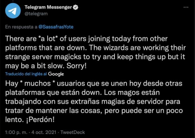 telegram caida de redes